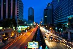 Night City Scape. June 10,2011 Night shot at Sathorn junction, Bangkok Stock Photography