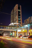Night City Scape. Sathorn junction at Bangkok, Thailand Stock Photo