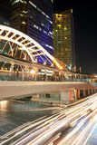 Night City Scape. Sathorn junction at Bangkok, Thailand Royalty Free Stock Images