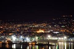 Night city scene royalty free stock photography