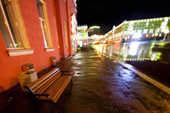 Night city scene Stock Photos