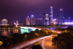 Night city. Night scene fo guangzhou zhujiang new town Royalty Free Stock Photo