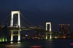 Night city at sea stock photography