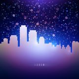 Night city sky with stars background for your text Stock Photography