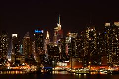 Night city skyline Royalty Free Stock Photography