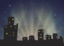 Night City Skyline Stock Image