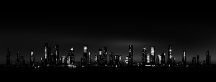 Night city skyline Royalty Free Stock Photography