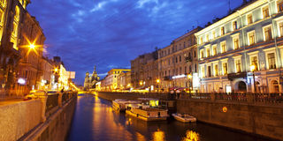 Night city  St. Petersburg Royalty Free Stock Images