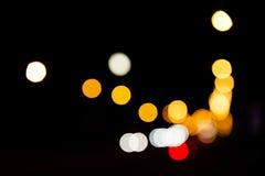 Night city street lights bokeh Royalty Free Stock Photo