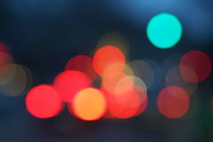 Night city street lights bokeh background Stock Images