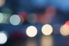 Night city street lights bokeh background. Light Bokeh Background Royalty Free Stock Photo
