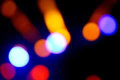 Night city street lights bokeh background Royalty Free Stock Image
