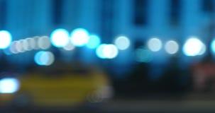 Night city street panoramic video stock footage