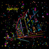 Night city street for your design Royalty Free Stock Image