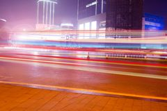 At night the city streets Royalty Free Stock Photography
