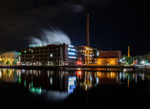 Night city. Tampere, Finland. Royalty Free Stock Photography