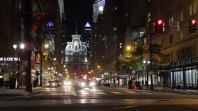 Night city timelapse pre-cutted multiple clips Timelapse. Night city timelapse - Philadelphia, PA stock video