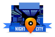 Night in the city. Top view Royalty Free Stock Images