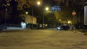 Night city traffic. The traffic at night in the city stock video footage
