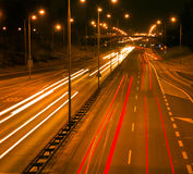 Night city traffic Stock Photos