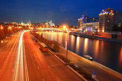 night city traffic lights Royalty Free Stock Photo