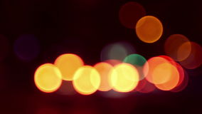 Night city traffic out of focus stock footage