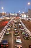 Night city traffic Stock Photo