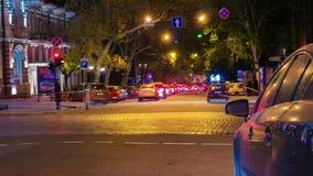 Night city traffic timelapse. Full HD stock video