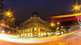 Night city traffic timelapse. Full HD stock video footage