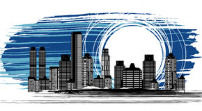 Night city vector Royalty Free Stock Image