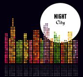 Night City - vector background Royalty Free Stock Images