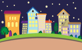 Night city. Vector illustration of night city Royalty Free Stock Images