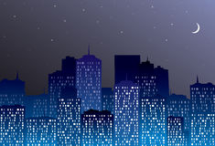Night city Stock Photography