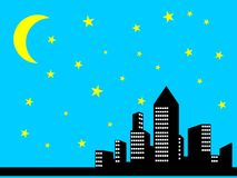 Night city view Stock Images
