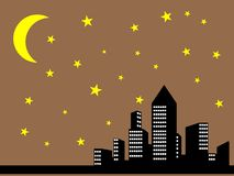 Night city view Royalty Free Stock Image