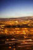 Night city view defocused. Royalty Free Stock Images