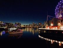 Colourful Nightscape at Science World stock photos