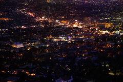 Night city view of LA from Griffith Observatory Stock Images