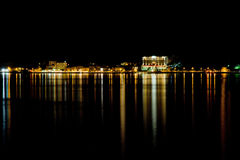 Night city view in Lake Como Bellagio Royalty Free Stock Photo