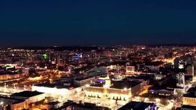 Night city view from the roof timelapse. Night city timelapse. City night from the view point on top timelapse. Night city view from the roof timelapse. Night stock video