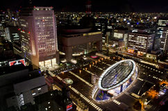 Night City view in Sakae area, Nagoya. Night City view in Sakae area, Nagoya, Japan Stock Photo