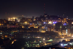 Night city Vladivostok summer Royalty Free Stock Photography