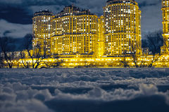 Night City In Winter Royalty Free Stock Photo