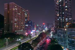 Night city in Zhuhai, China Stock Photos