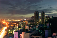 Night city in Zhuhai, China Royalty Free Stock Photo