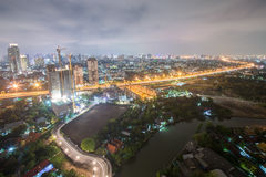 Night cityscape of bangkok. Thailand Royalty Free Stock Image