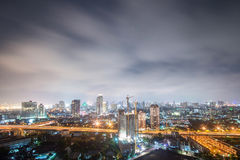 Night cityscape of bangkok Royalty Free Stock Image