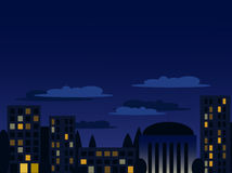 Night cityscape Royalty Free Stock Photography