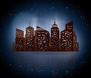 Night cityscape Stock Image