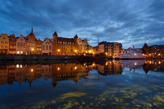 Night cityscape of Gdansk Stock Photography